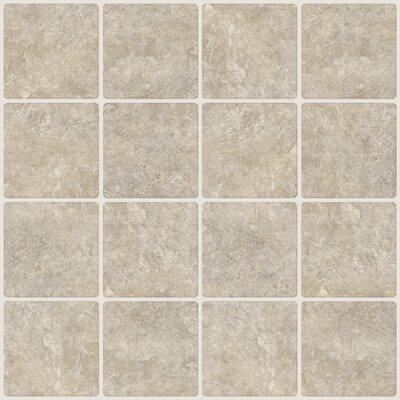 """Travertine 20"""" x 20"""" Resin Peel & Stick Field Tile in Beige NH2364"""