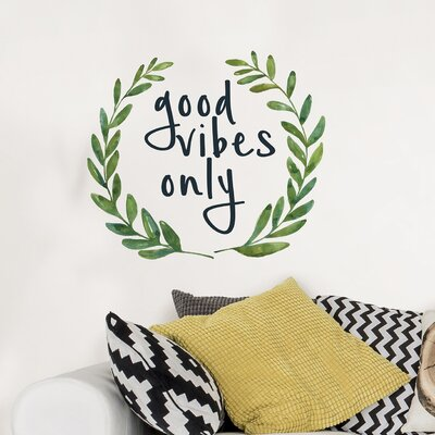 Good Vibes Only Quote Wall Decal WPQ2329