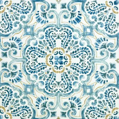 Fontaine Peel and Stick 12 x 12 Vinyl Tile in Blue