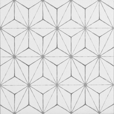 Kikko 12 x 12 Vinyl Tile in White