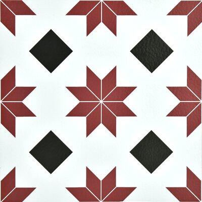 Orion 12 x 12 Vinyl Tile in Red