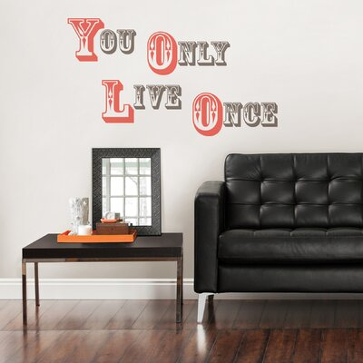 Art Kit YOLO You Only Live Once Quote Wall Decal WPQ0749