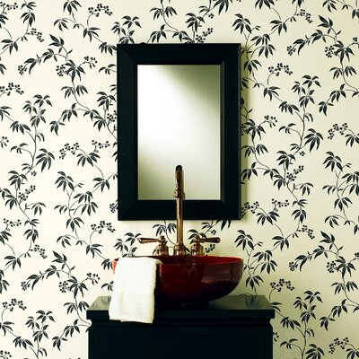 Kitchen and Bath Resource II Floral Silhouette Trail Wallpaper Size: Wallpaper sample 8