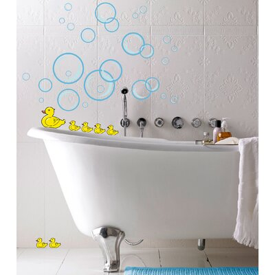Euro Bubble Ducks Wall Decals