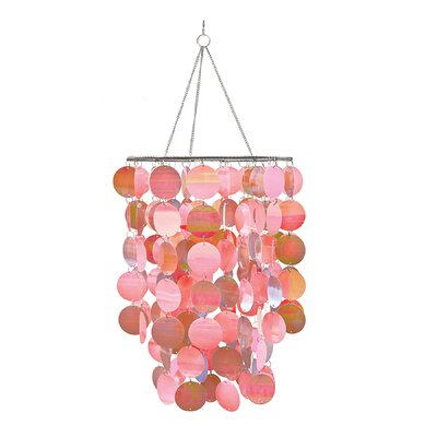 WallPops Room Accessories Pearl Waterfall Chandelier Color: Pink