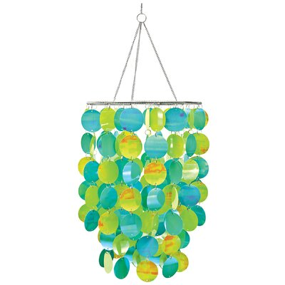 Kacy Pearl Waterfall Chandelier Color: Blue