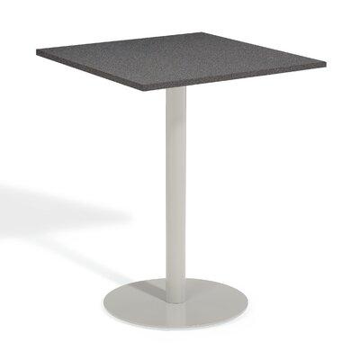 Travira Bar Table Table Size: 32 L x 32 W, Finish: Alstone Graphite
