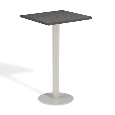 Travira Bar Table Table Size: 24 L x 24 W, Finish: Lite-Core Ash