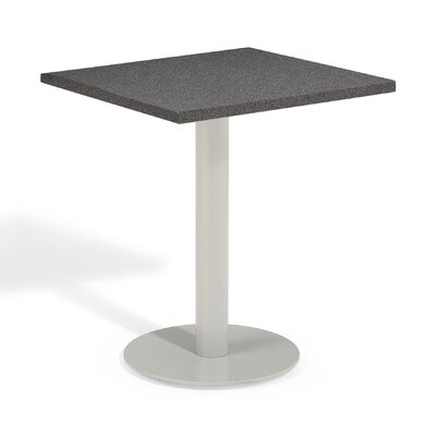 Travira Bistro Table Table Size: 32 L x 32W, Finish: Lite-Core Charcoal