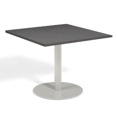 Travira Bistro Table Table Size: 36 L x 36W, Finish: Alstone Graphite