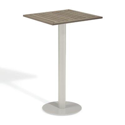 Travira Bar Table Finish: Tekwood Vintage, Table Size: 24 L x 24 W
