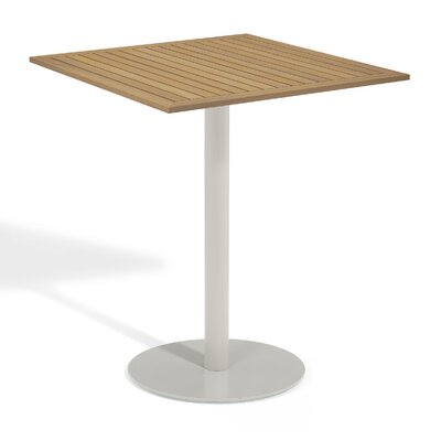 Travira Bar Table Table Size: 36 L x 36 W, Finish: Tekwood Natural