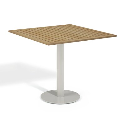 Travira Bistro Table Table Size: 32 L x 32W, Finish: Tekwood Natural
