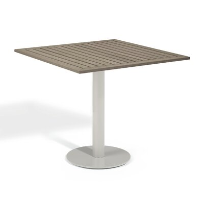 Travira Bistro Table Table Size: 32 L x 32W, Finish: Tekwood Vintage