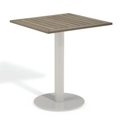 Travira Bistro Table Finish: Tekwood Vintage, Table Size: 24 L x 24W