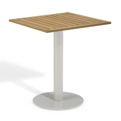 Travira Bistro Table Finish: Tekwood Natural, Table Size: 24 L x 24W