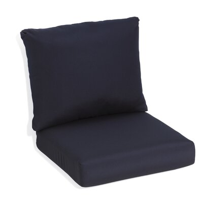 Siena Outdoor Lounge Chair Cushion Fabric: Navy Blue