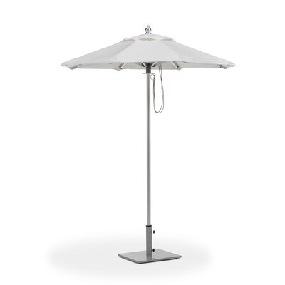 6 Oxford Market Umbrella Fabric: Dupione Walnut