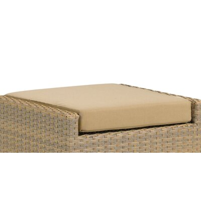 Torbay Outdoor Sunbrella Ottoman Cushion Fabric: Dupione Papaya