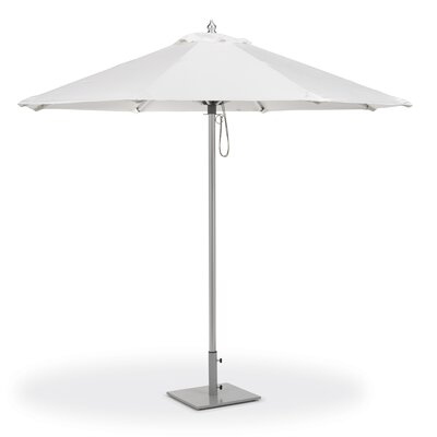 9 Jaycee Market Umbrella Fabric: Dupione Walnut