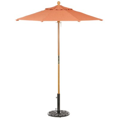 6 Oxford Market Umbrella Fabric: Sunbrella Dupione Papaya