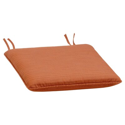 Dayana Outdoor Dining Chair Cushion Color: Dupione Papaya