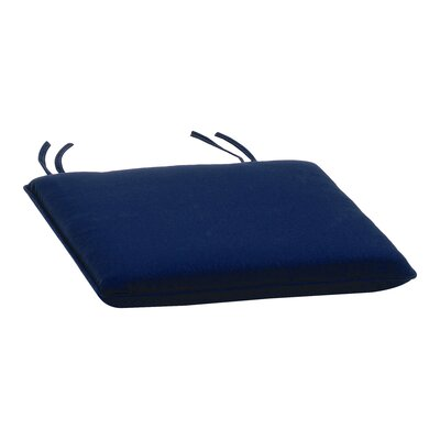 Dayana Outdoor Dining Chair Cushion Color: Navy