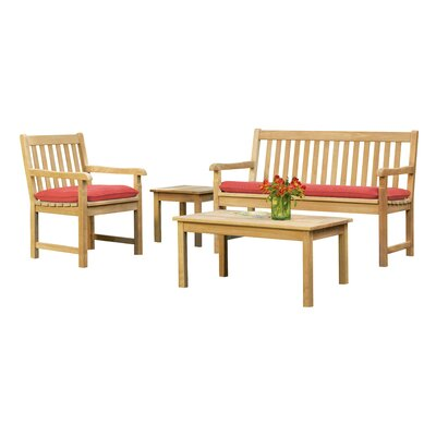 Sheena 4 Piece Conversation Set with Cushions