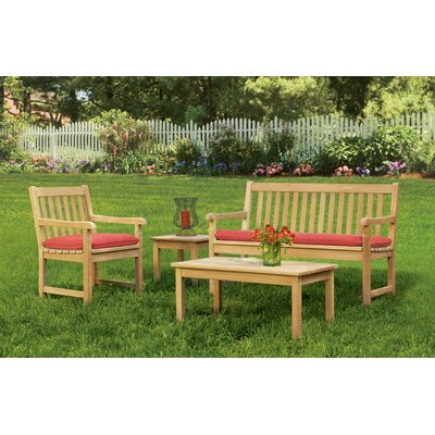 Coraline 4 Piece Seating Group with Cushions