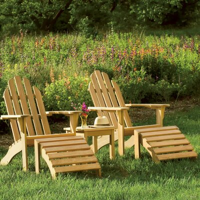 Jaelynn 5 Piece Adirondack Seating Group