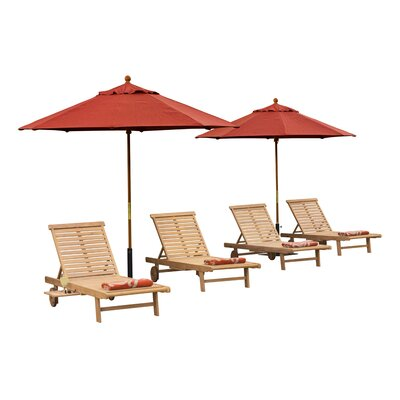 Edinburg 8 Piece Chaise Lounge Set