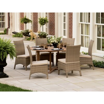 Ledyard 7 Piece Dining Set with Cushions