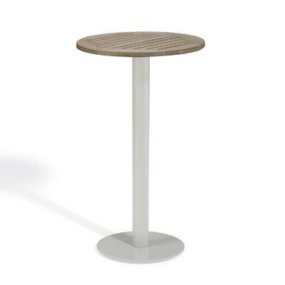Bunburry Bar Table Table Size: 32 L x 32 W, Top Finish: Vintage Tekwood