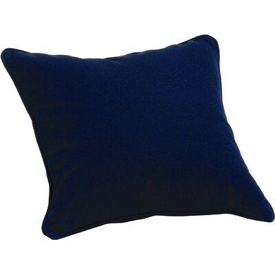 Sunbrella� /PolyThrow Pillow Color: Navy