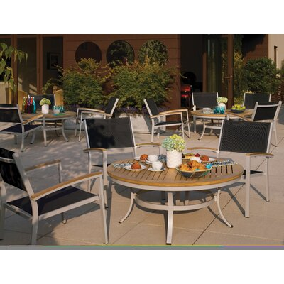 Farmington 5 Piece Aluminum Frame Lounge Seating Group Finish: Natural Tekwood
