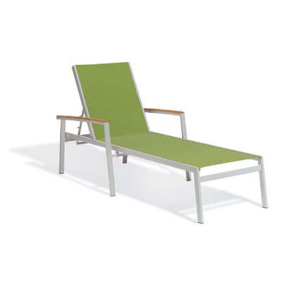 Travira Chaise Lounge Fabric: Go Green, Finish: Natural