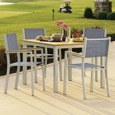 Farmington 5 Piece Dining Set with Sling Back Chairs Finish: Natural