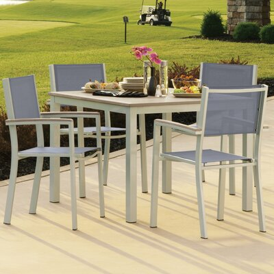 Farmington 5 Piece Dining Set with Sling Back Chairs Finish: Vintage
