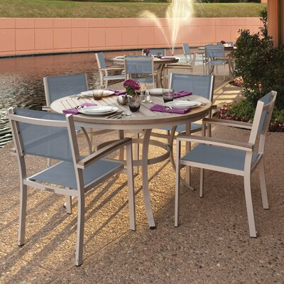 Farmington 5 Piece Dining Set with Titanium Sling Back Chairs Finish: Vintage