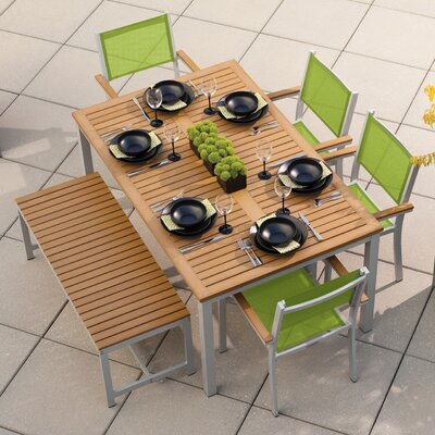 Travira 6 Piece Dining Set Finish: Natural