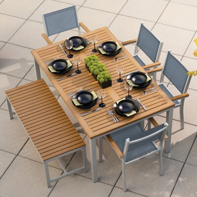 Farmington 6 Piece Dining Set with Leg End Caps Finish: Natural