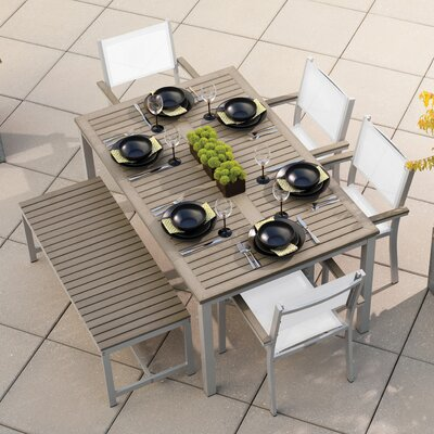 Farmington 6 Piece Dining Set with Stackable Chairs Finish: Vintage