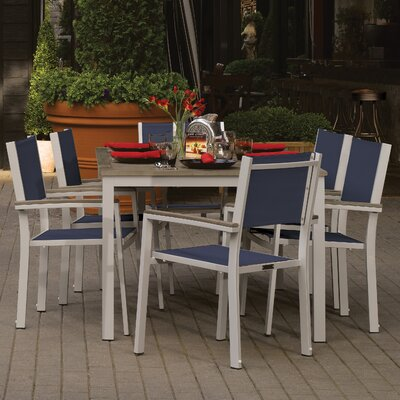 Farmington 7 Piece Dining Set with Leg End Caps Finish: Vintage
