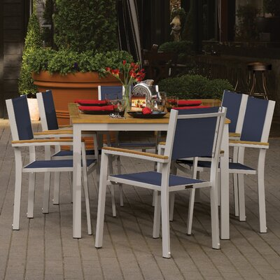 Farmington 7 Piece Dining Set with Leg End Caps Finish: Natural