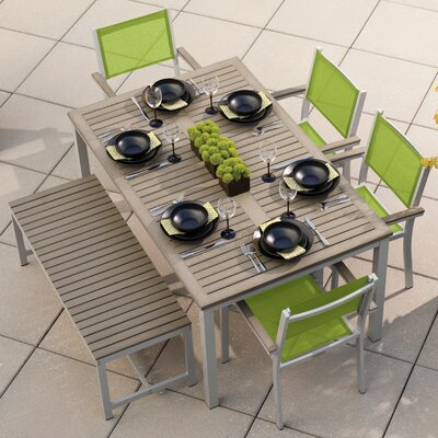 Travira 6 Piece Dining Set Finish: Vintage