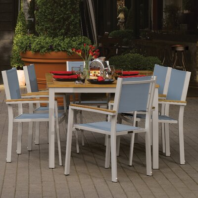Farmington Contemporary 7 Piece Dining Set Finish: Natural Tekwood