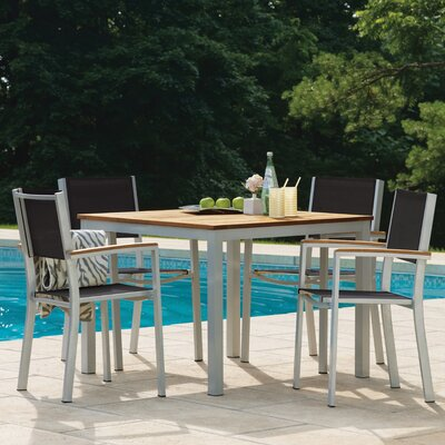 Farmington 5 Piece Tekwood Dining Set Finish: Natural Tekwood