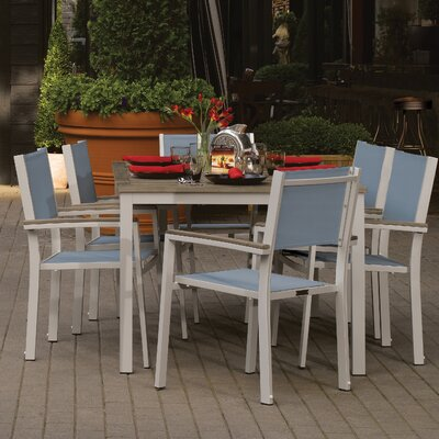 Travira 7 Piece Dining Set Finish: Vintage Tekwood