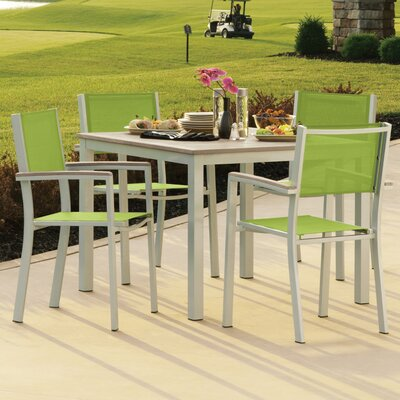 Farmington 5 Piece Dining Set with Stackable Chairs Finish: Vintage Tekwood