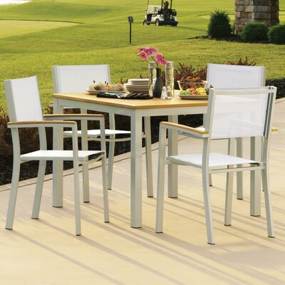 Farmington 5 Piece Tekwood Dining Set with Leg End Caps Finish: Natural Tekwood